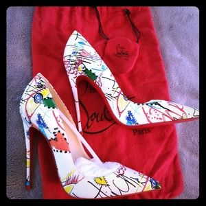 Christian Louboutin So Kate Graffiti Pumps